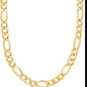 MEN'S 24 INCH 10k GOLD FIGARO NECKLACE